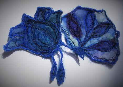 Blue Textile Art