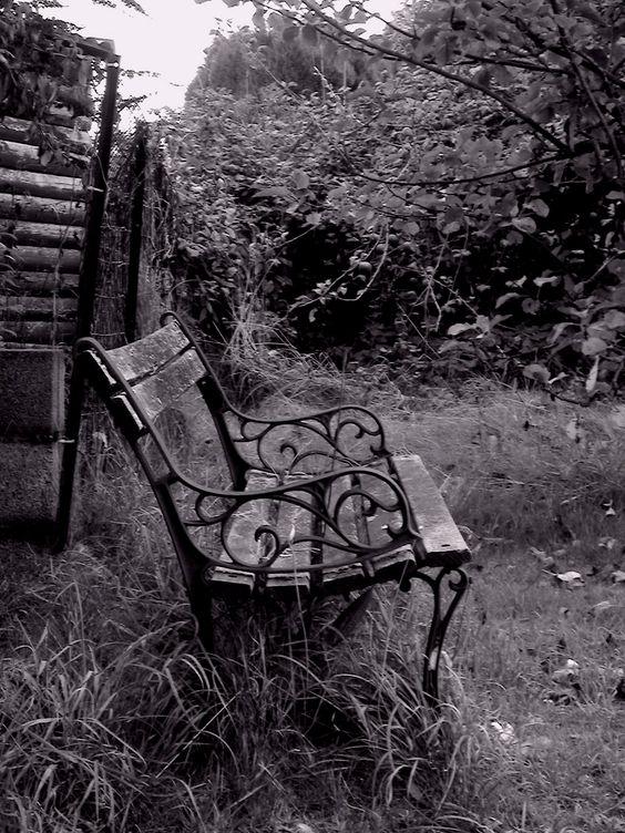 Hidden Places - Chair 2 b & w photo