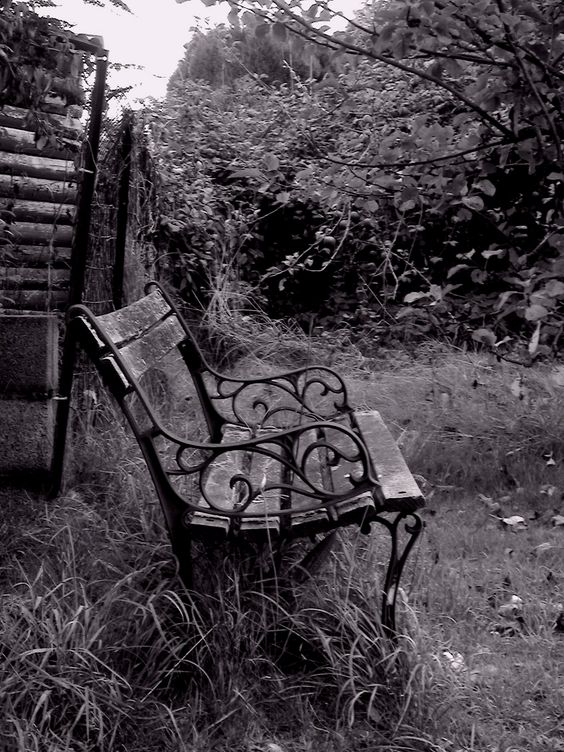 Hidden Places - Chair 2 b & w photo